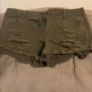Dark green shorts